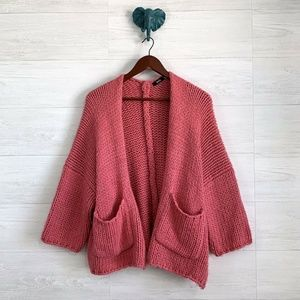 BDG M/L Urban Outfitters Pink Chunky Cardigan